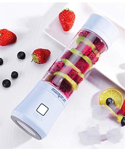 ZLJ Portable Smoothie Blenders Mini USB Rechargeable Smoothie Blender 450ml Mixer Juice Bottle Stainless Steel Blenders for Fruit Milkshake and Baby Food Free Blue