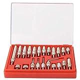 22 piezas de contacto de indicador de prueba de acero inoxidable, puntos de indicador de dial de precisión de 0,01 mm, para indicador de dial