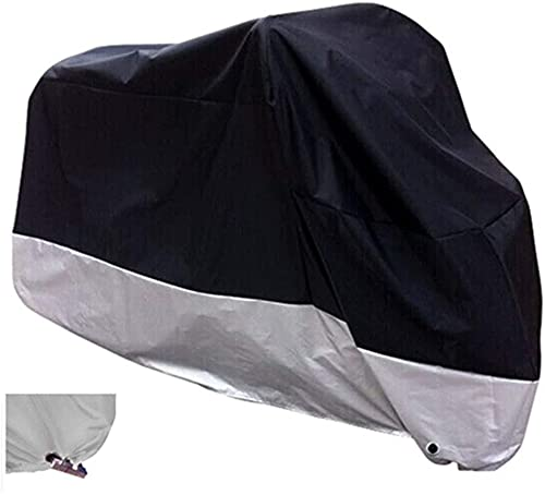 H&ZT Outdoor Bike Cover, Outdoor Adult Tricycle Bicycle Motocycle Storage Cover, Heavy Duty Ripstop Material, Waterproof & Anti-UV