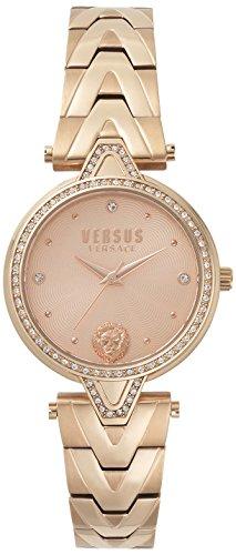 Versus by Versace Damen Analog Quarz Uhr mit Edelstahl Armband VSPCI3717