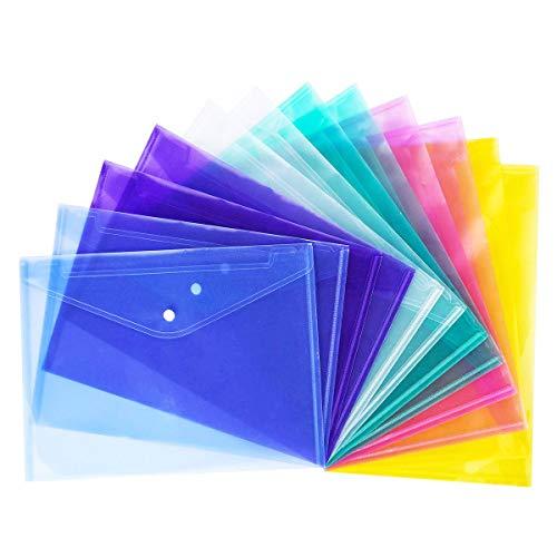 July Miracle Foolscap - 12 carpetas de plástico A4 documentos archivos sobre carpetas