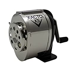 Commercial grade pencil sharpener for high volume environments Dual helical cutters sharpen pencils with precision Mountable on wall, desk, or table with the included screws Adjustable to accommodate 8 pencil sizes Manual operation is easy for school...