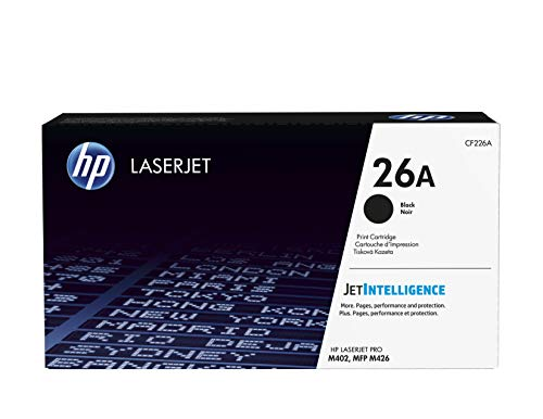 HP 26A, CF226A, Toner Cartridge, Works with HP LaserJet Pro M402 series, M426 series, Black. Buy it now for 126.89