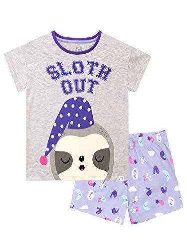 Harry Bear Mädchen Schlafanzug Kurze Faultier Violett 152