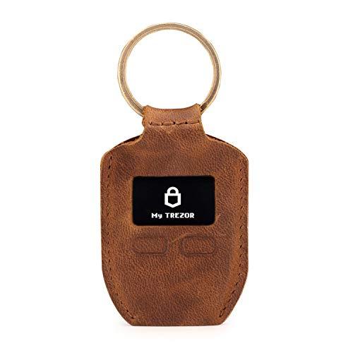 Londo Echtleder Geldbörse mit Schlüsselring für Trezor One Bitcoin Wallet Unisex (Braun), One Size, OTTO281