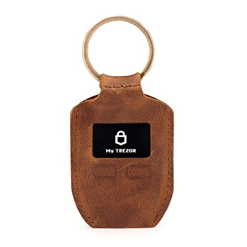 Londo Genuine Leather Case with Keyring for Trezor One Bitcoin Wallet Unisex (Brown)