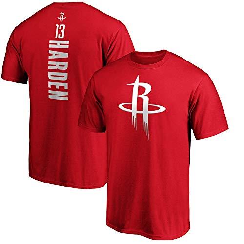 BMSD Camiseta Hombre NBA Rockets Harden Jersey Verano Manga Corta Club Unisex Casual Calle Adolescente Media Manga Camisetas Deportes Juveniles, S