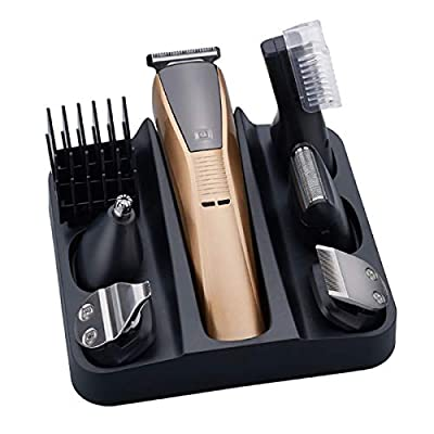 Gojiny Mens Grooming Kit with Trimmer, 6-in-1 Electric Hair Clippers Kit USB Rechargeable Body Hair Shaver Nose Hair Trimmer from Gojiny