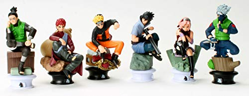 6 pcs Useful Nice Chic Accent Gift Naruto Figures Chess Set: Uzumaki Kakashi Sasuke Gaara Sakura Shikamaru