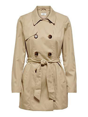 ONLY Damen ONLVALERIE CC OTW Trenchcoat, Ginger Root, M