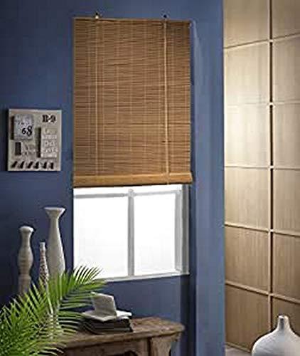 MADECOSTORE Store Enrouleur Roll'Up Bambou - Caramel - L103 x H180cm - Fixation avec perçage - Store bois