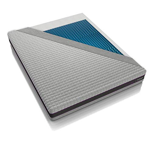 Technogel Matratze Estasi mit Gel-Auflage, soft, 25 cm Gesamthöhe, ergonomisches Design Größe 160x200