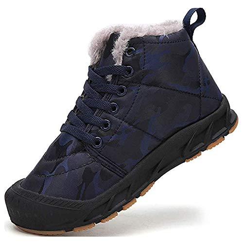 Huaheng Varma skor vinterstövlar varma vadderade vinterskor barn flickor pojkar snöstövlar vuxna varma plyschstövlar nya