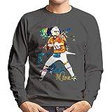 VINTRO Patriots Star Tom Brady Sweat-shirt pour homme Portrait original par Sidney Maurer Imprimé professionnellement -  Gris - Large