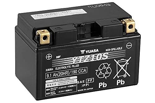 Batteria moto Yuasa YTZ10S AGM - Senza manutenzione - 12 V 8 Ah - Dimensioni: 150 x 87 x 93 mm compatibile con HONDA CBR1000RR Fireblade (SC57) 1000 2004-2007
