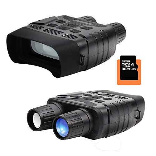 Wimaha HD Digital Night Vision Binoculars Infrared Waterproof 640x480 30FPS Photo Camera and Camcorder with 400m Detection Range 2.3 Inch TFT LCD with 32G Memory Card