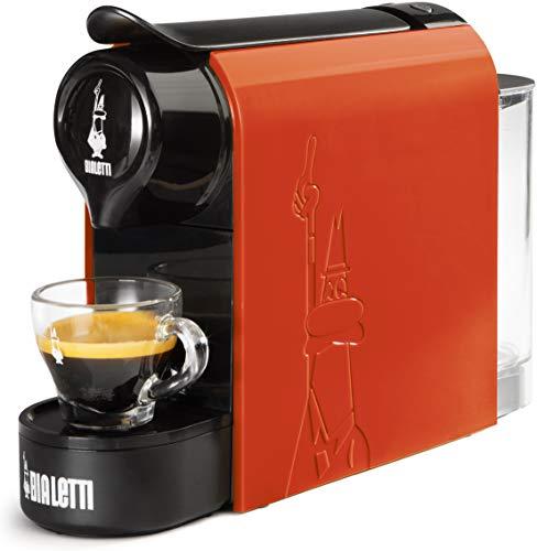 Bialetti Gioia, Macchina da Caffè Espresso per Capsule in Alluminio sistema Bialetti il Caffè d'Italia, Supercompatta, Arancione