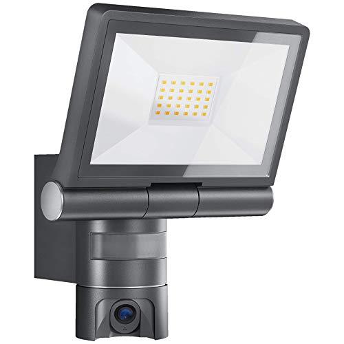 Steinel XLED CAM 1 Kameraleuchte: Außenstrahler, Überwachungskamera, Gegensprechanlage, 180°-Infrarot-Bewegungsmelder, Aluminium, 21 W, Anthrazit