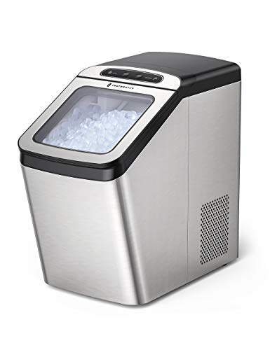 TaoTronics Nugget Ice Maker for Countertop, Crunchy Pebble Ice Maker, Make 26lb Nugget Ice per Day, Sonic Ice Maker Machine with 3.3lb Ice Bin and Scoop for Home, Office