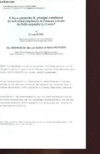 L'ISO-&-GURJUNENE B, PRINCIPAL CONSTITUANT DE LA FRACTION TERPENIQUE DE L'ESSENCE EXTRAITE DE PELLIA EPIPHYLLA CORDA