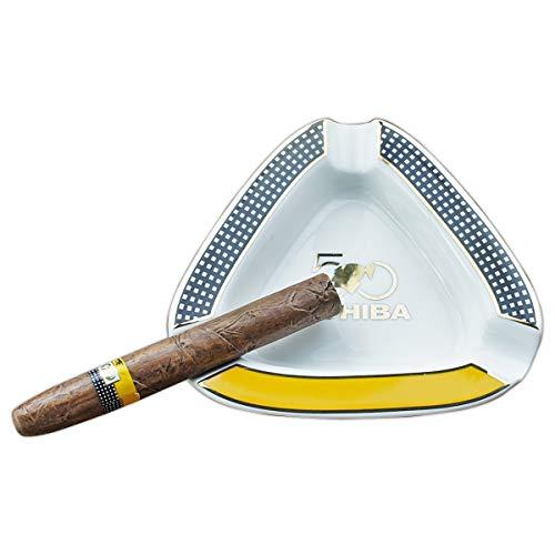 Cigar Ashtray Triangle - Large Outdoor Cigars Ashtray for Patio/Outside/Indoor Ashtray (White)