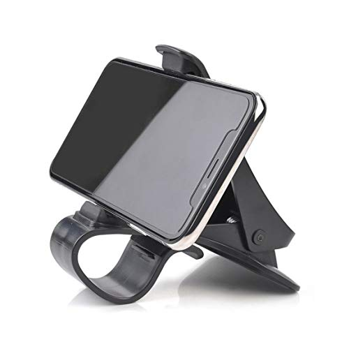 MEILUAIMU Soporte para teléfono móvil para Coche Panel de Instrumentos de navegación GPS de 360 Grados Soporte para teléfono móvil Mango Soporte para teléfono móvil para Coche