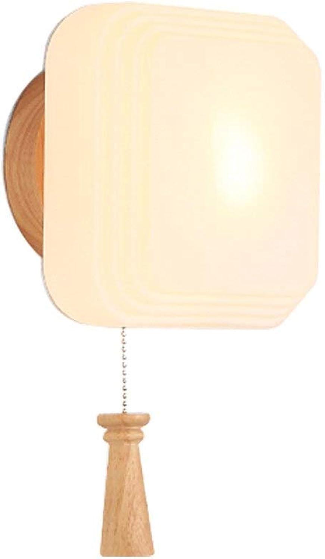 Einfache Moderne Holzfarbe Wandleuchte, Schlafzimmer Wandleuchte Nachttischlampe Gang Wandleuchte Tatami Wandleuchte