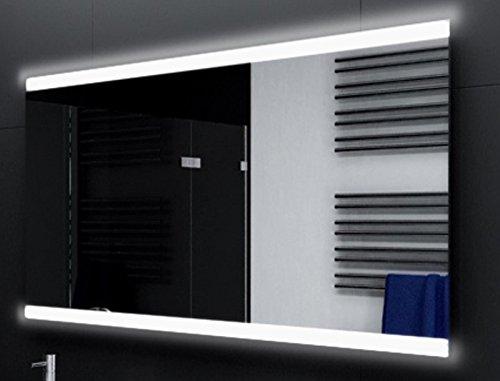 Badspiegel Designo MA2510 mit A++ LED Beleuchtung - (B) 100 cm x (H) 80 cm - Made in Germany - TIEFPREIS Technik 2019 Badezimmerspiegel Wandspiegel Lichtspiegel ob + un beleuchtet Bad Licht Spiegel