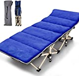 Slsy Folding cot with Mattress,Folding Camping Cot for Adults Portable Folding Outdoor cot with Carry Bags Suede for Outdoor...