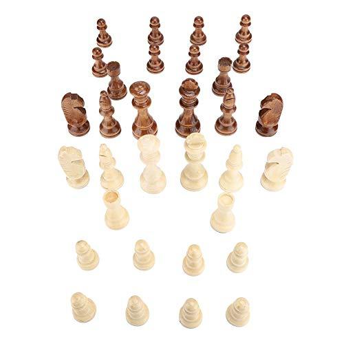 Zerodis Accesorio Internacional de ajedrez Internacional de 4 Pulgadas de Madera de ajedrez Internacional(Chess)