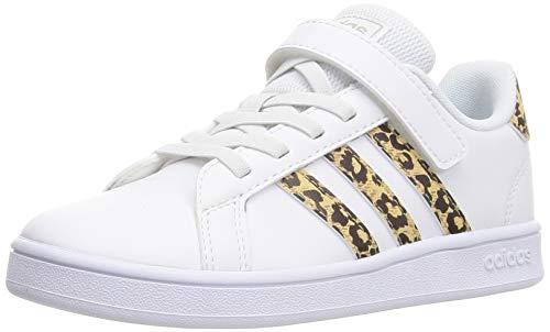 adidas Grand Court C, Zapatillas de Tenis, FTWBLA/FTWBLA/METCHA, 34 EU