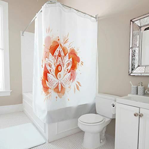 O5KFD&8 Yoga, Lotus Duschvorhang Lustig - Yoga Muster Drucken Kein Chemischer Geruch Badvorhang Stilvielfalt für Zuhause