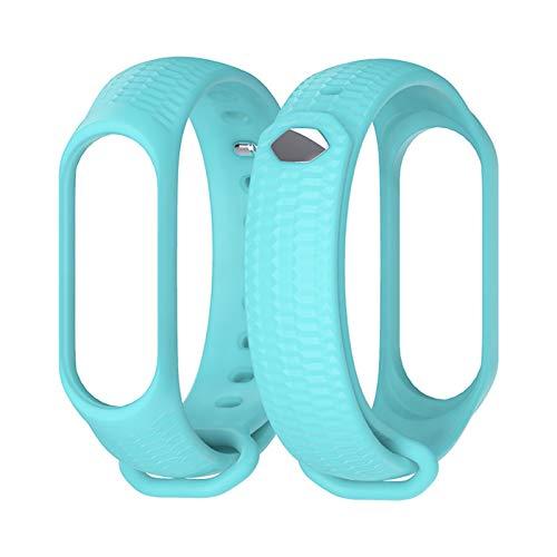 Silicone Strap Strap MI Band 4 Correa Mi Band 4 Smart Watch Pulsera para MI Band 3 Strap Pulsera Pulsera 10688 (Color : Blue)