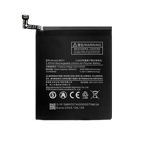 hsvgjsfa Batería De Litio De 3.85v BN31 3080mah, Batería Recargable para Ofrecer MúLtiples Protecciones