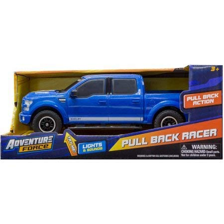 Adventure Force Pull Back Racer - Blue Ford Shelby F150 Truck