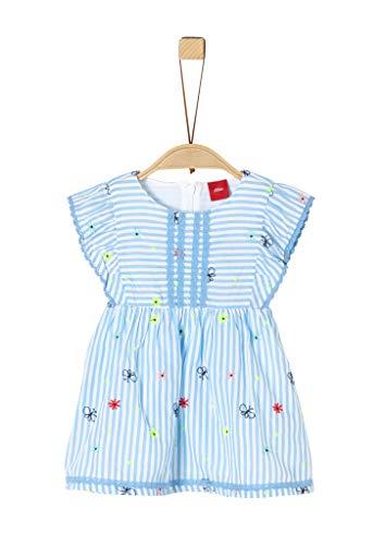 s.Oliver Junior 405.10.004.20.200.2019378 Kinderkleid, Baby - Mädchen, Blau 92 EU