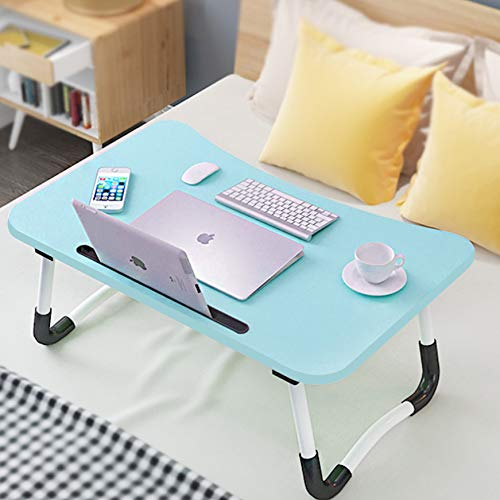 Adjustable Laptop Bed Table Lap Standing Desk for Bed and Sofa Breakfast...