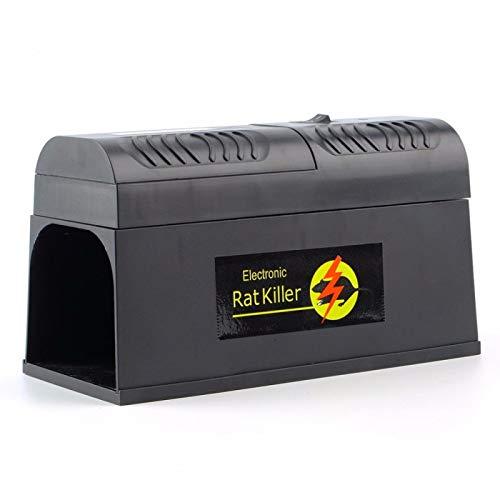 QAZEDC Ratonera Profesional Electrocute Electronic Rat Trampa Ratones Ratón Roedor Adaptador De Descarga Eléctrica Alto Voltaje