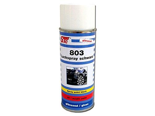 STC Lackspray schwarz glänzend 400 ml Sprühlack Farbspray Acryllack Spray