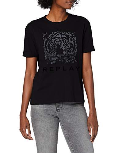 Preisvergleich Produktbild Replay Damen W3232E.000.20994 T-Shirt,  988 Black Beauty,  XL