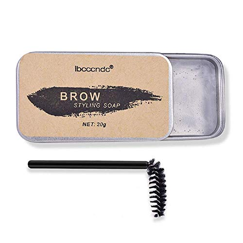Eyebrow Soap Kit, Eyebrow Shaping Wax Kit, Long Lasting Waterproof Smudge Proof Eyebrow Styling Gel for Natural Brows, 3D Feathery Brows Makeup Balm Pomade Cosmetics