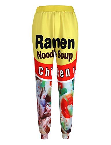 PIZOFF Unisex 3D Kitchen Ramen Noodle Joggers Pants Funny Graphic Trousers Sweatpants AM225-02-XL