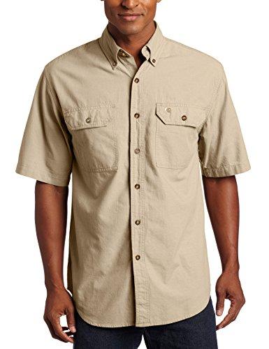 Carhartt Fort Solid Kurzarm Hemd, Dark Tan Chambray, XXL