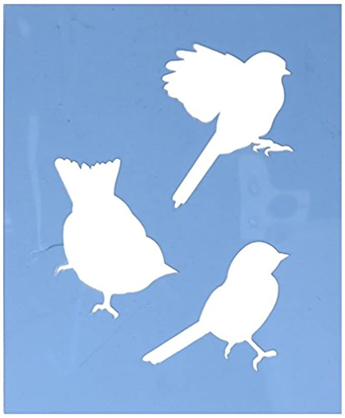 Faux Like a Pro Bird Stencil, Sparrow/Finch/Chickadee, 5.5 by 7-Inch, Single Overlay