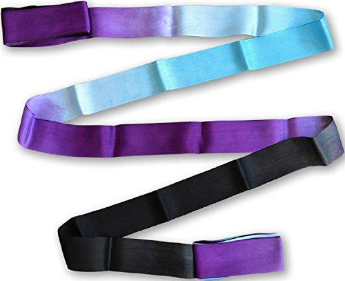 Pastorelli - Cinta de Gimnasia rítmica (5 m), Black-Sky Blue-Violet