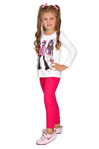 FUTURO FASHION® - Leggings para niñas - Cálidos y gruesos - Algodón - Rosa - Talla 7 años