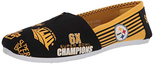 FOCO NFL Womens SMU Thematic Womens Canvas Shoe: San Francisco Ers, Small
