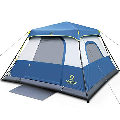 QOMOTOP Cabin Tent, Camping Tent 4 People with Instant Fast 60 Seconds...