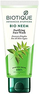 Biotique Advanced Ayurveda Bio Neem Purifying Face Wash for All Skin Types, 150ml