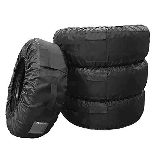 SODIAL Reifenabdeckung utomotive Supplies Reifentasche cc, abnehmbar für 13-20 Reifenabdeckung